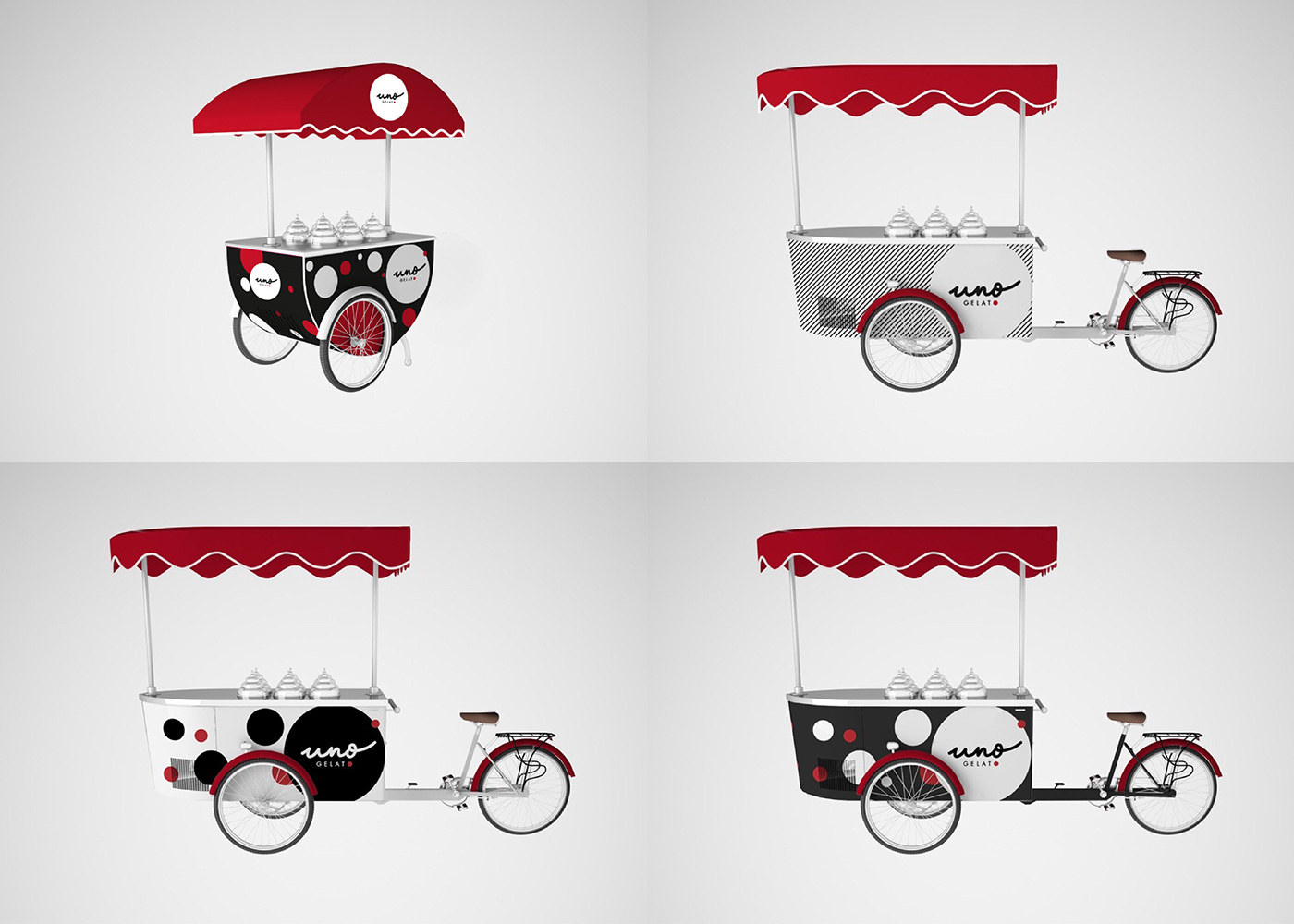 business card logo identity Packaging ICE CREAM CART Website squarespace