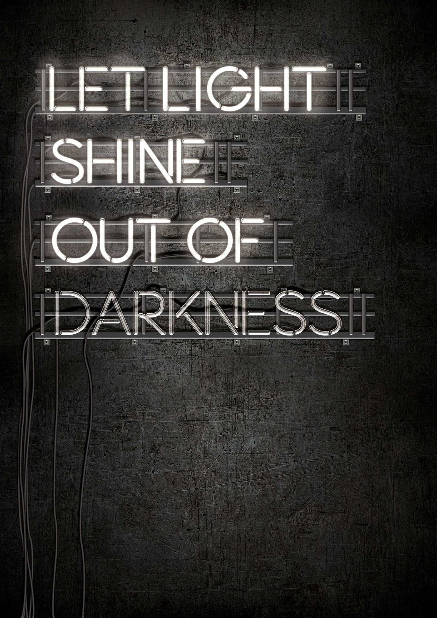 Let Light Shine Out Of Darkness (Neon Light) on Behance