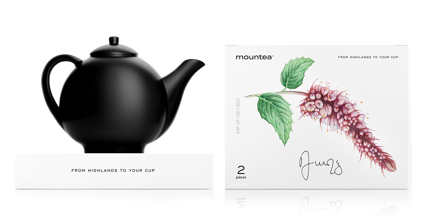 branding  fruits leaflet loose leaf Minimalism organic tea tea bags vegan White