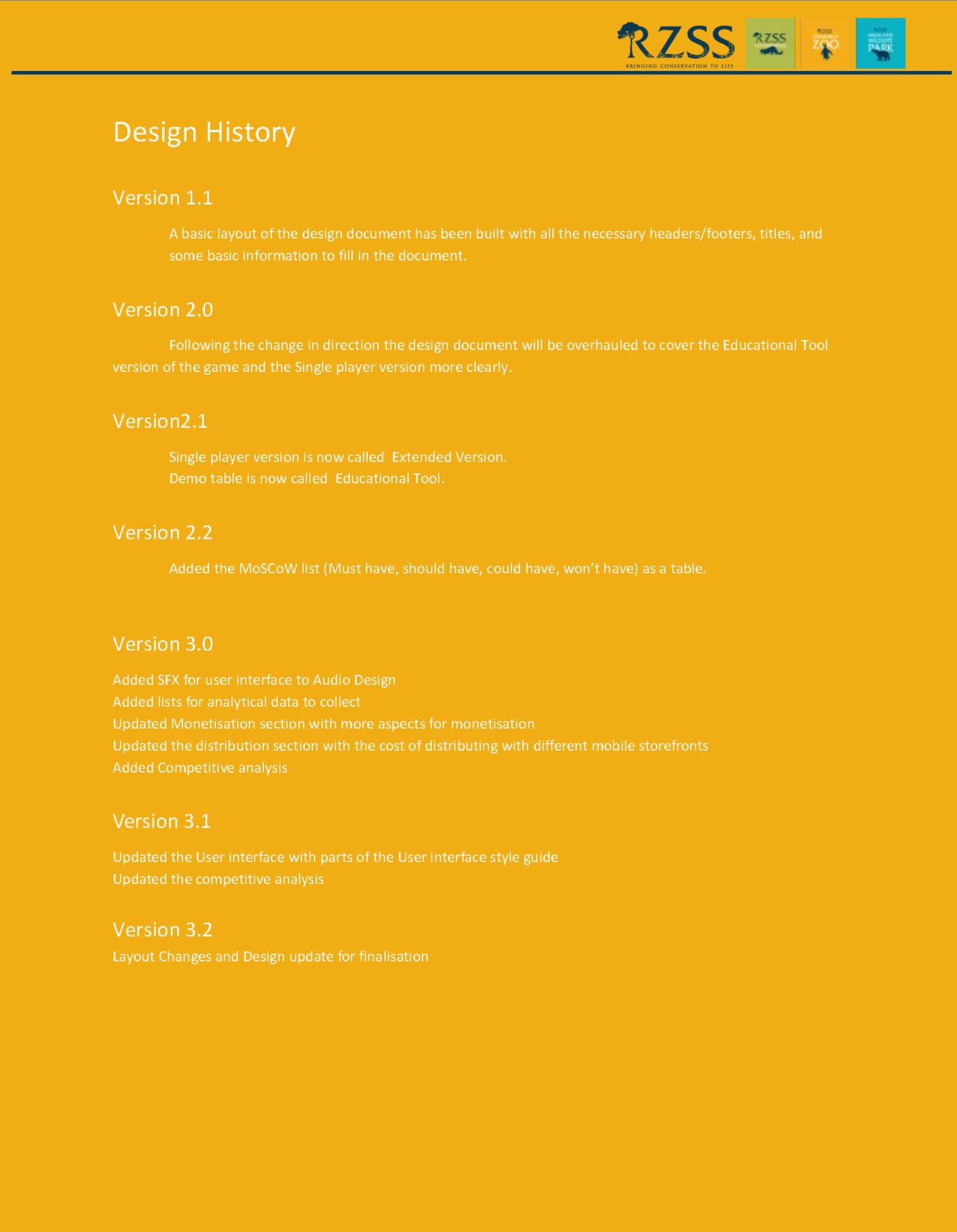 Build My Zoo Game Design Document On Behance - Audio design document