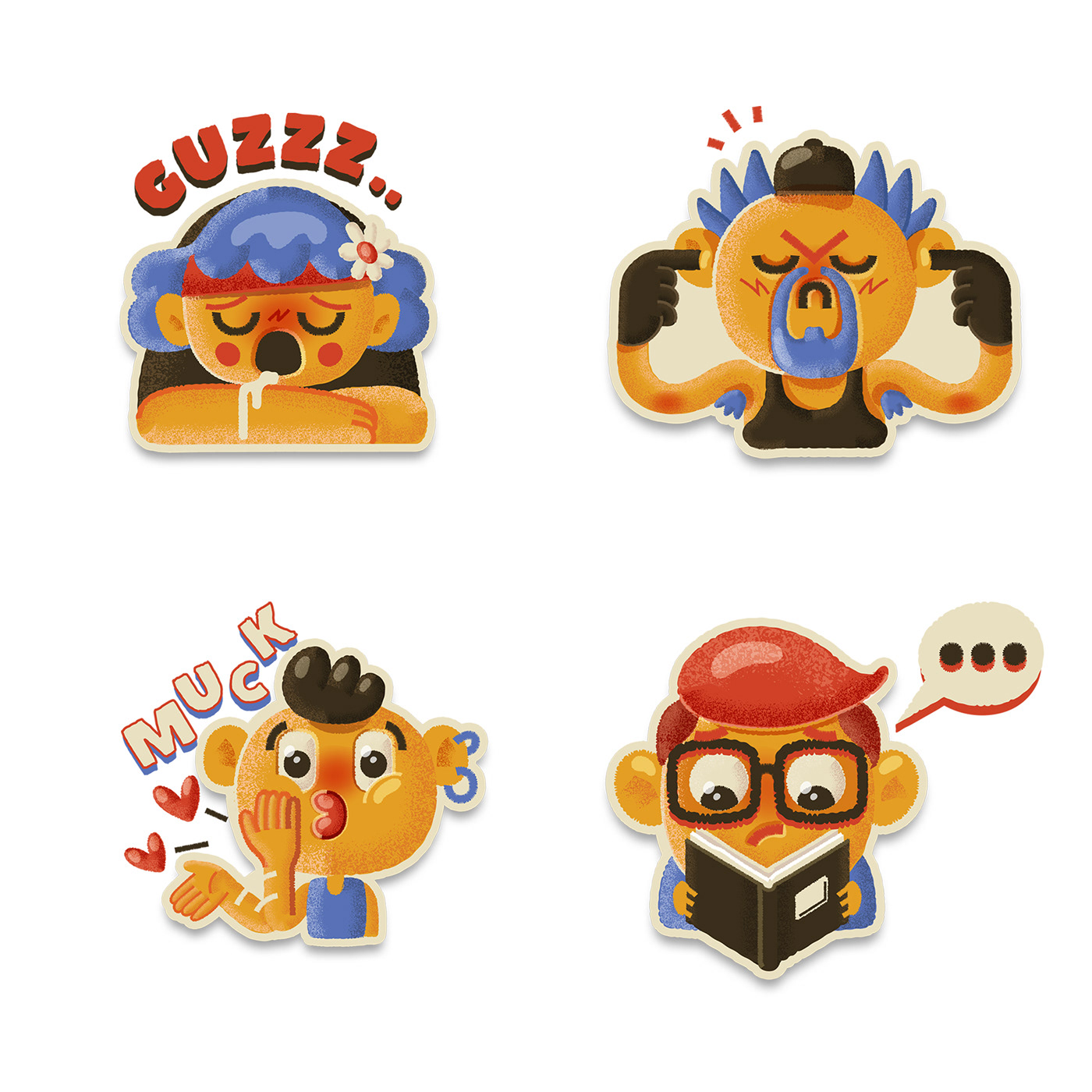 Mango Buddies Stickers Pack on Behance