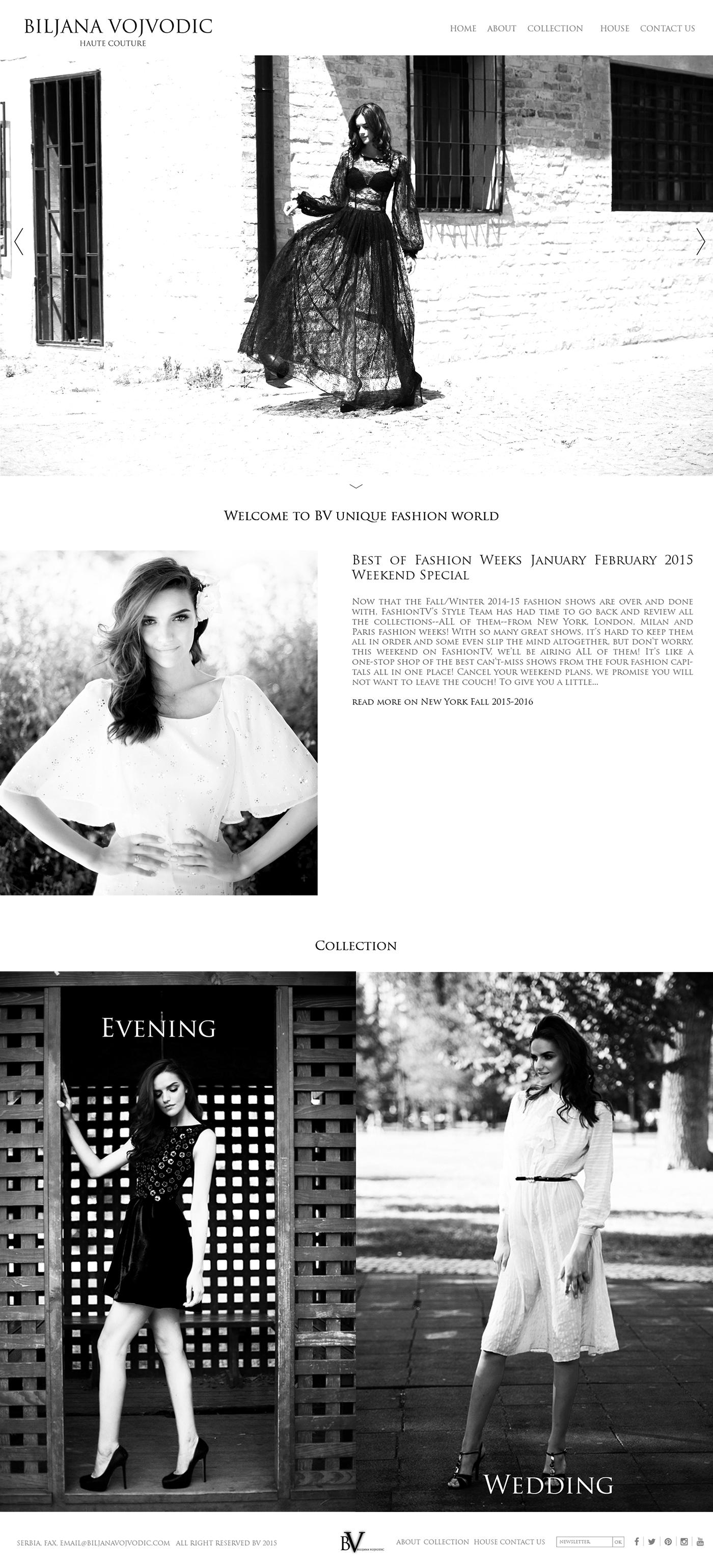 Biljana Vojvodic Haute couture Web design Fashion  sexy