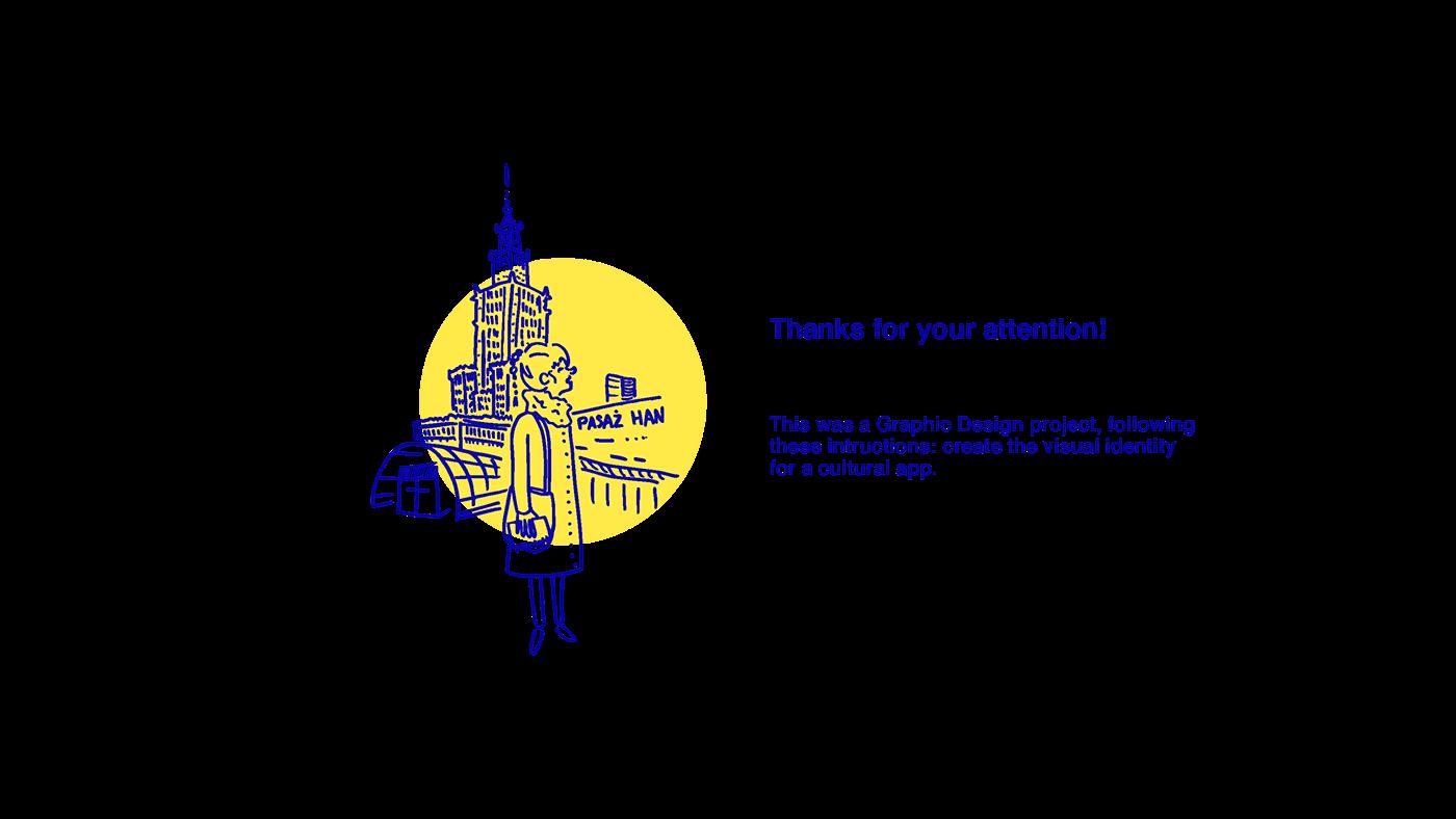 sketching warsaw app graphic design  UI culture tourism City Exploration