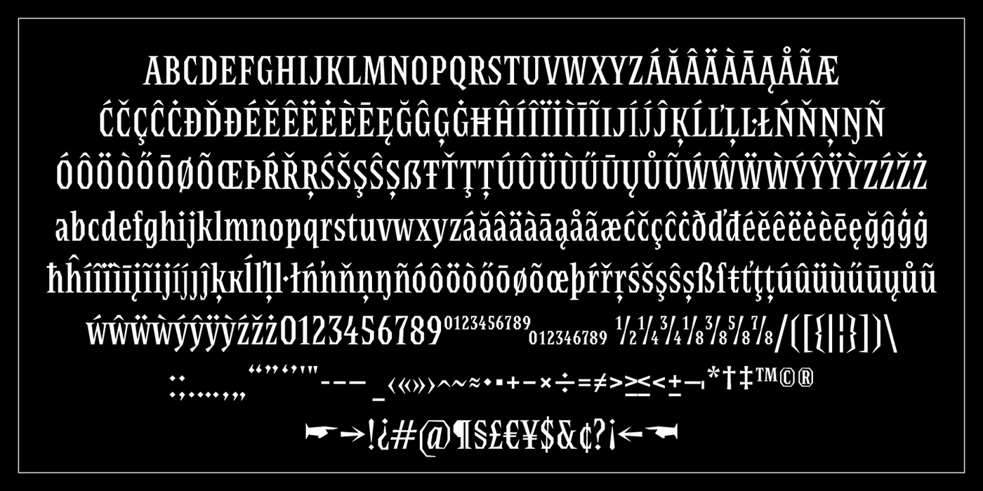 Display font serif titling Typeface typography