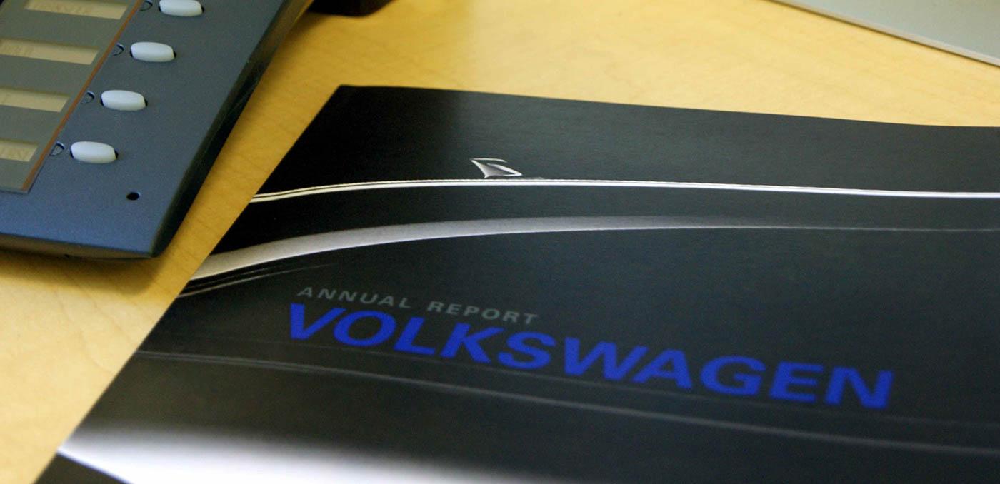 volkswagen annual report  behance