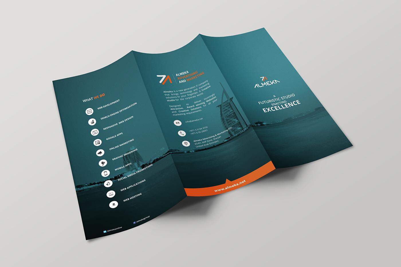 tri fold brochure free download on behance