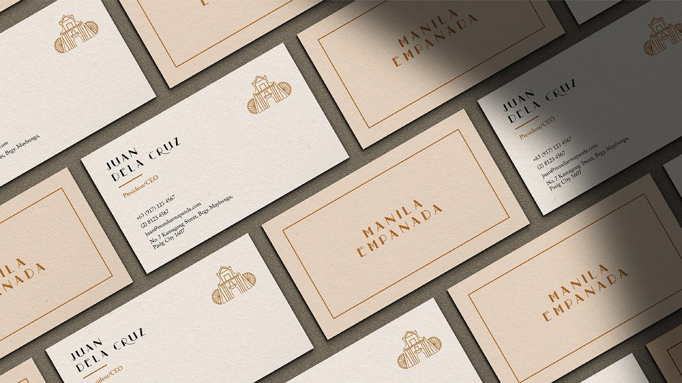 branding  art direction  Collateral empanada filipino Food  logo Packaging Stationery visual identity