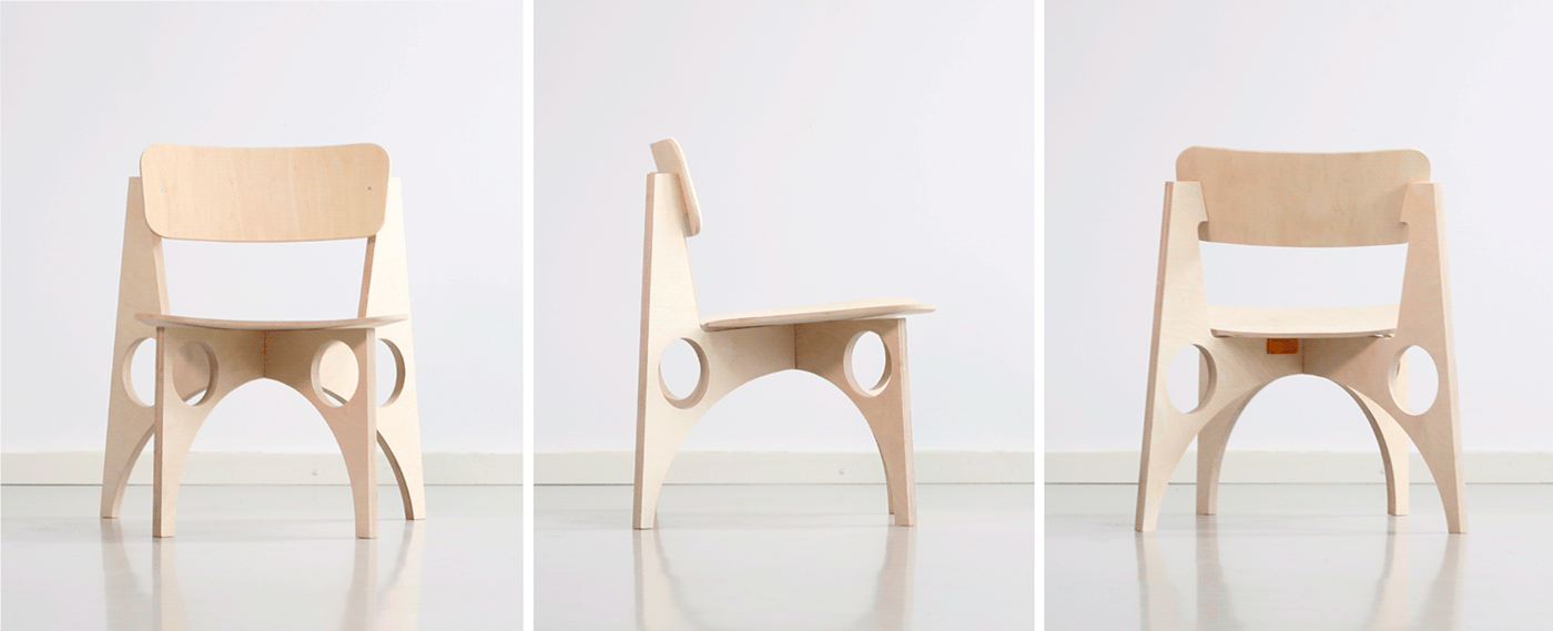 chair flatpack furniture industrial design  meditation plywood Productivity