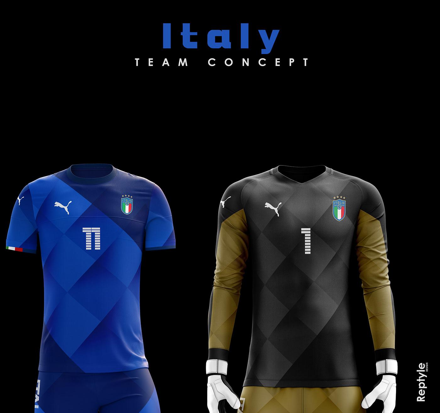 Italy soccer kit concept on Behance b9f650daa