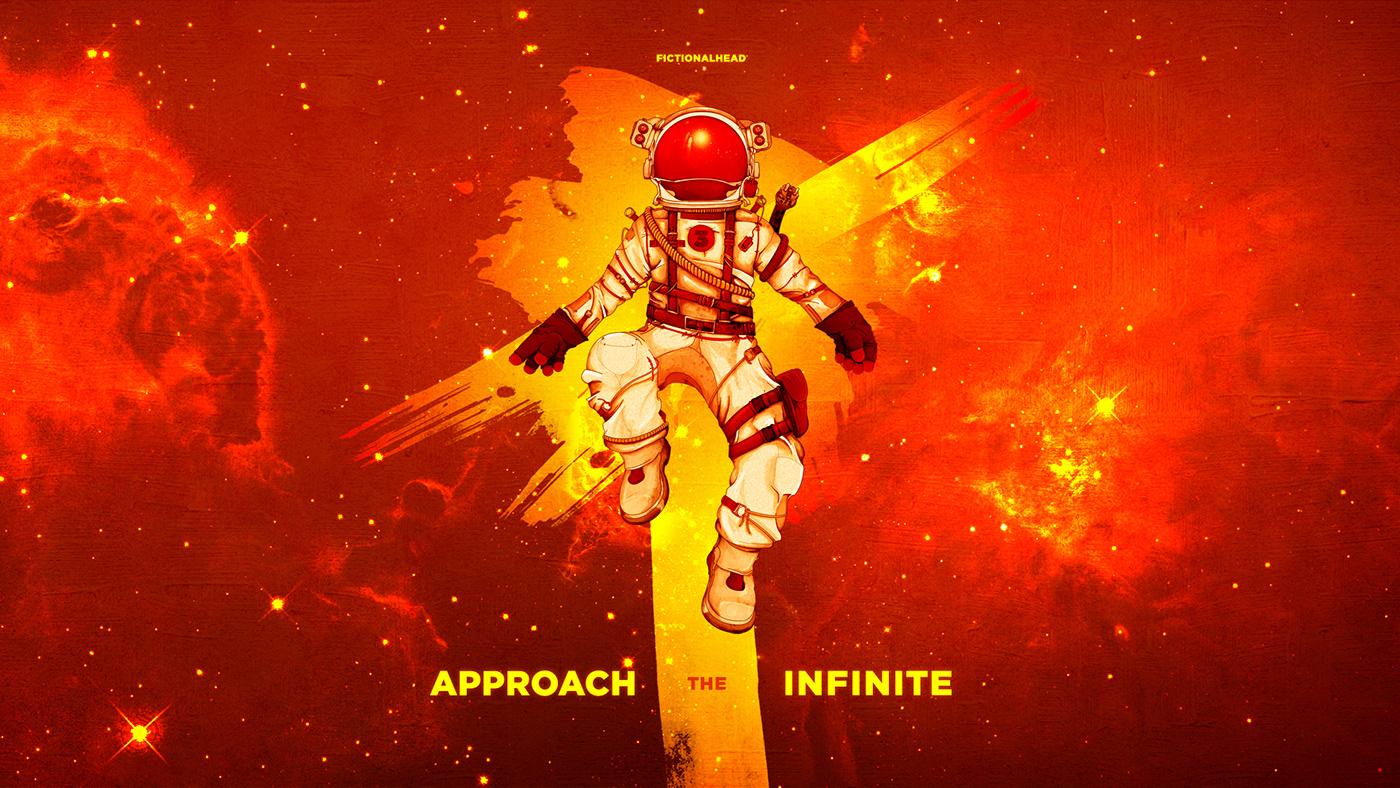 music Album Digital Art  ILLUSTRATION  art astronaut