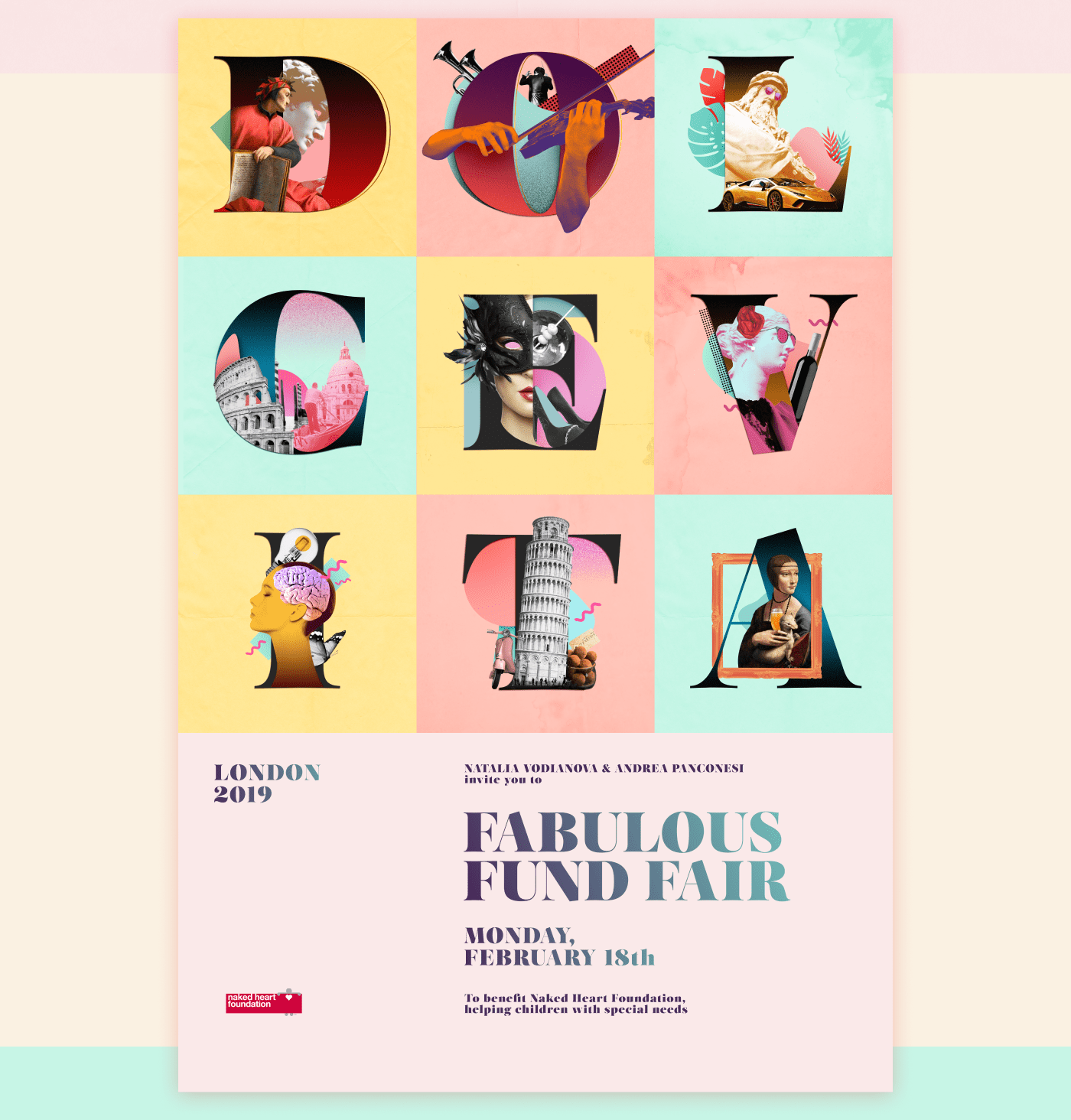 ILLUSTRATION  collage lettering letters typography   design digital graphic