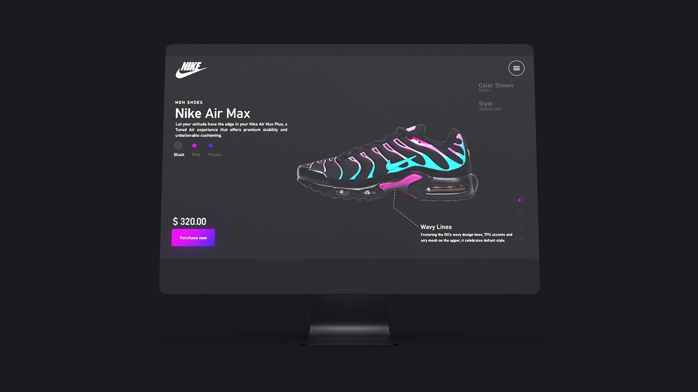 estore landing page market Nike onlinestore redesign shoes Webdesign
