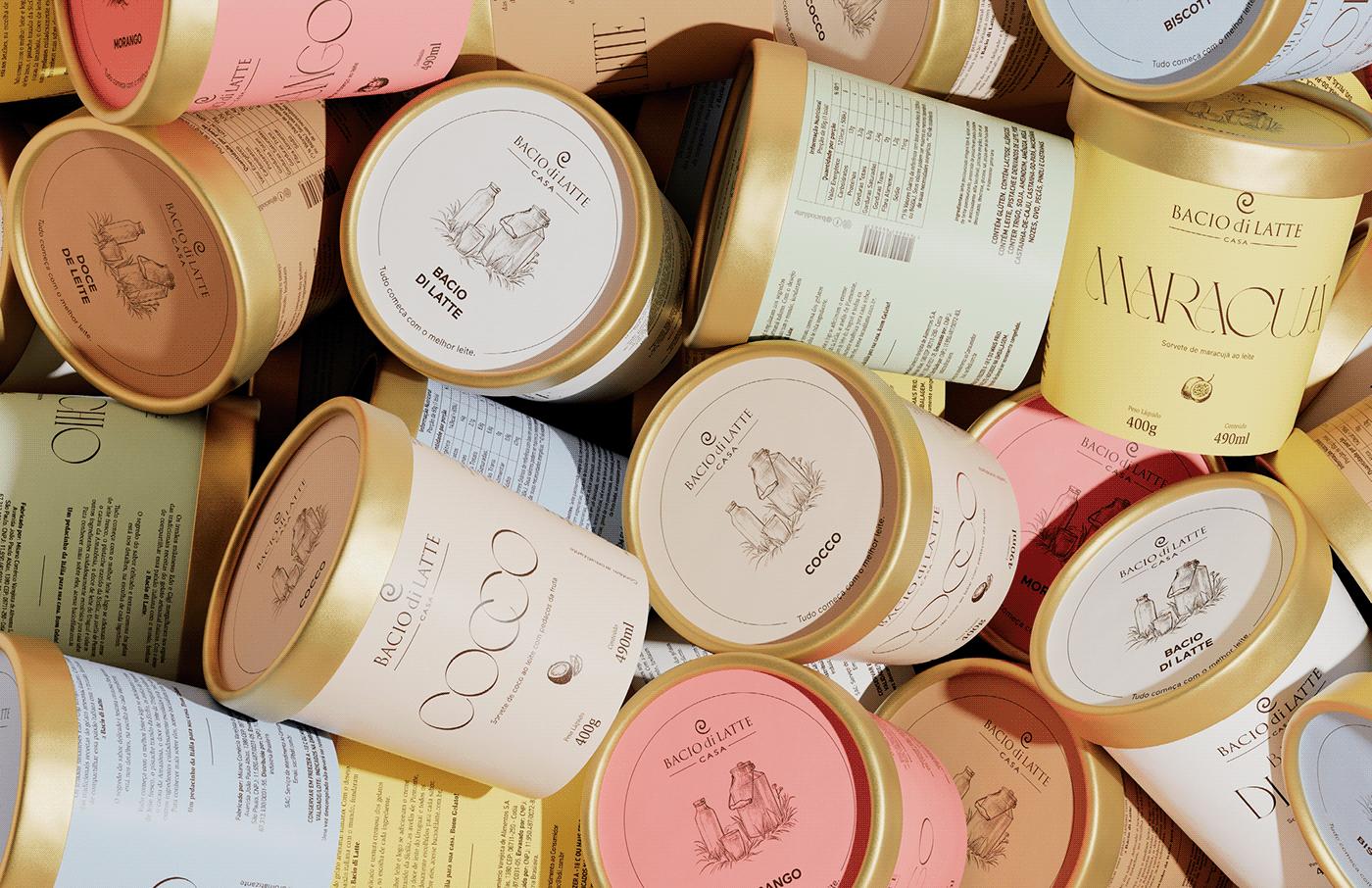 design ice cream package Packaging