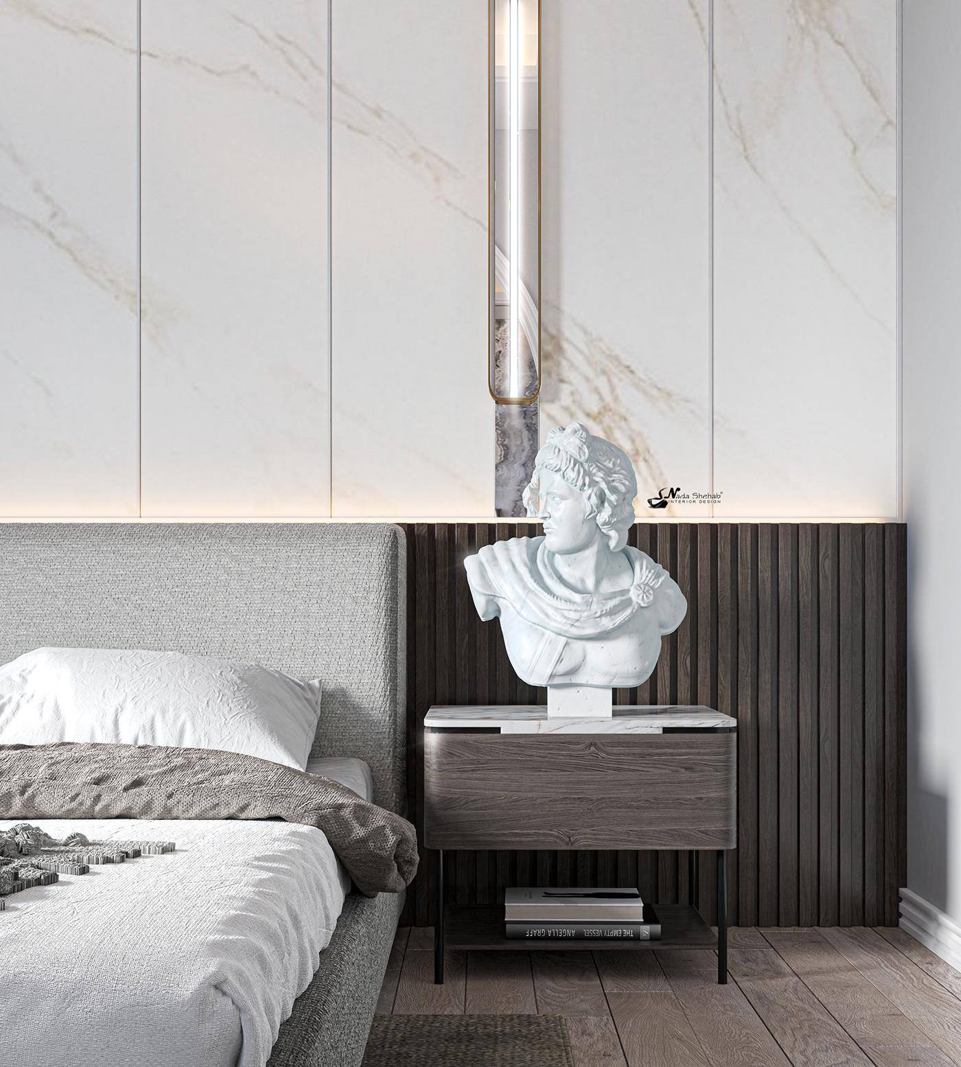 Hình ảnh có thể chứa: trong nhà, tường và giường