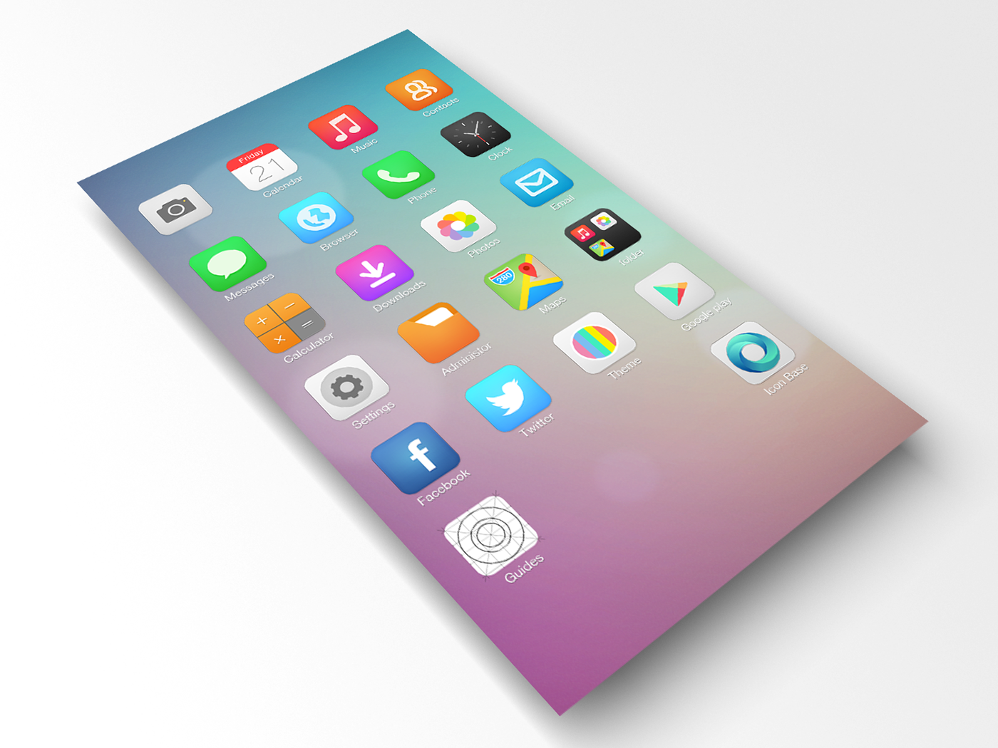 IOS 7 style icon for android on Behance