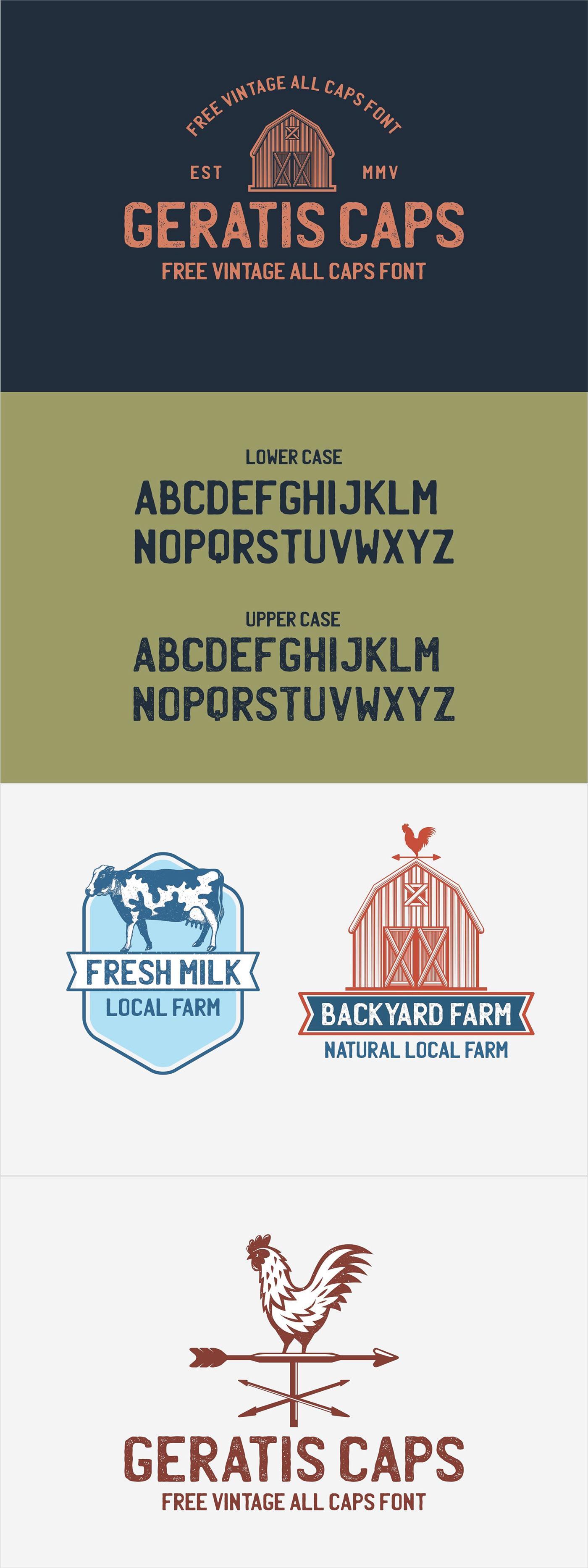 free Free font type Typeface vintage texture all caps Display branding  logo