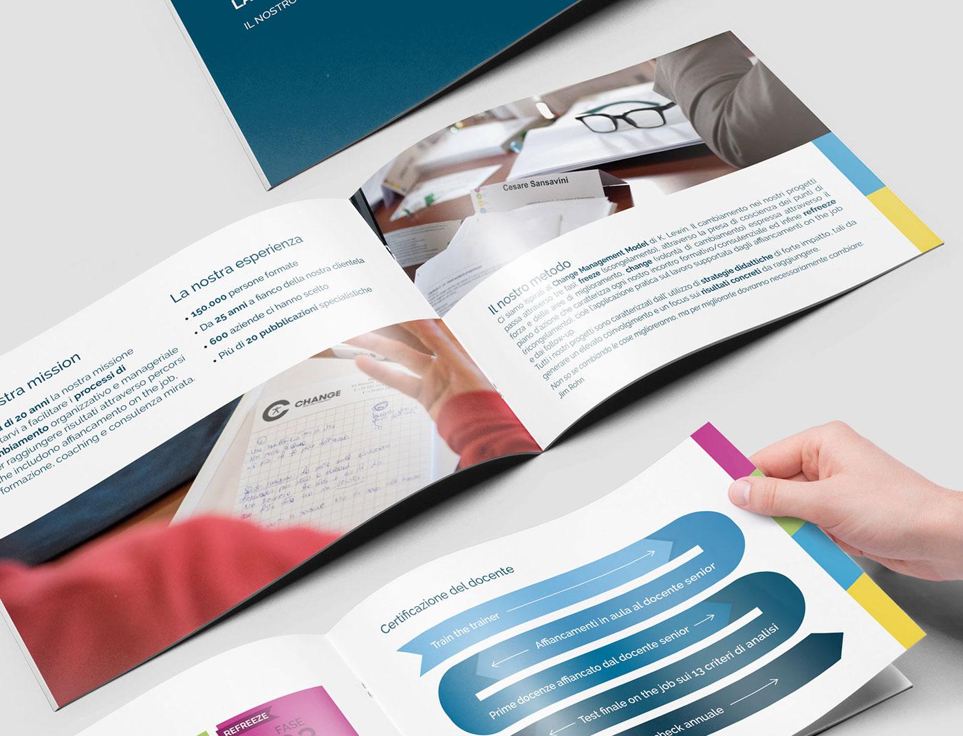change logo Logo Restyling rebranding brochure design Web Design  social media