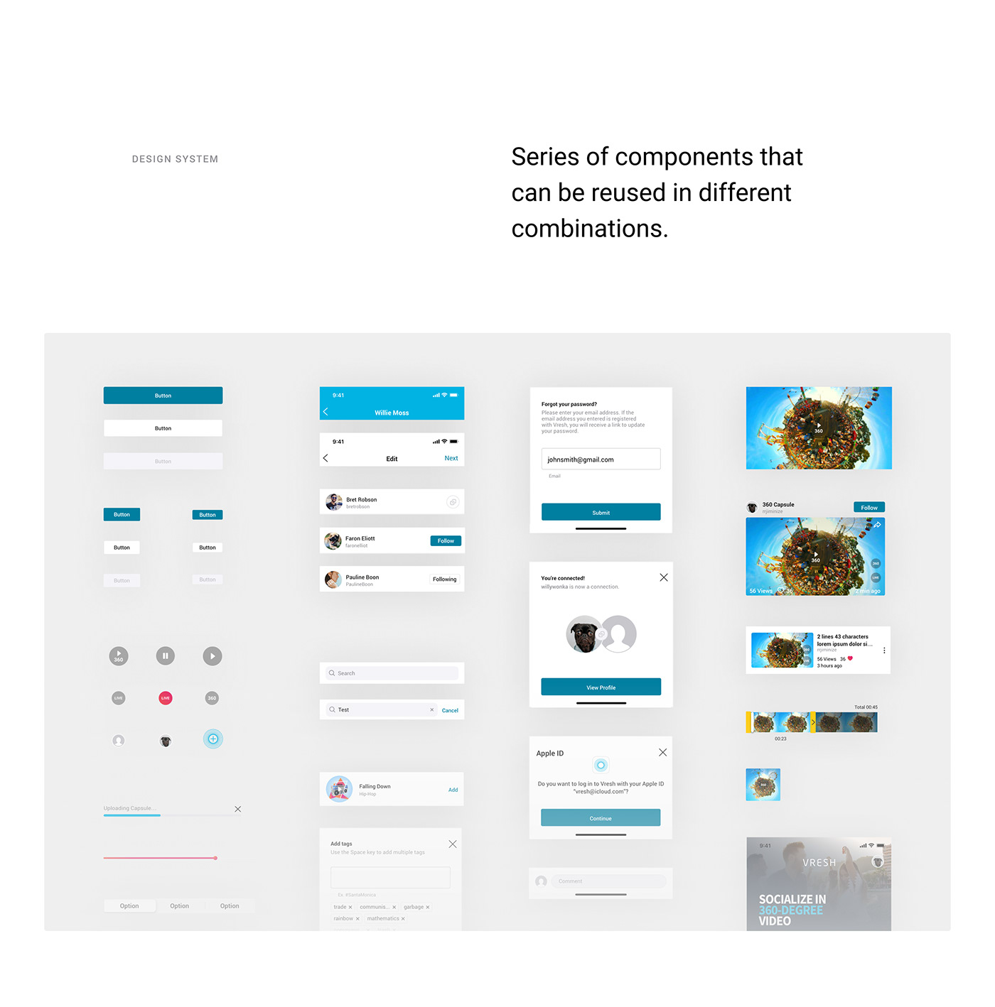 android animation  blue ios mobile product design  social media video vr