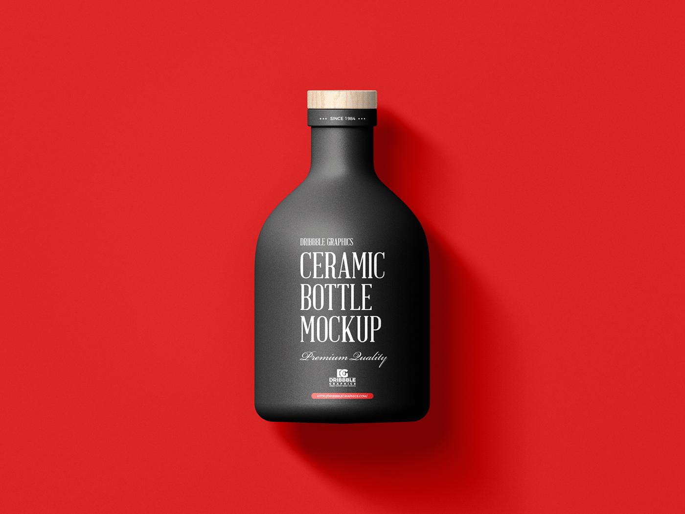 bottle mockup Ceramic bottle mockup free mockup  freebies Mockup mockup free mockup psd mockups packaging mockup psd