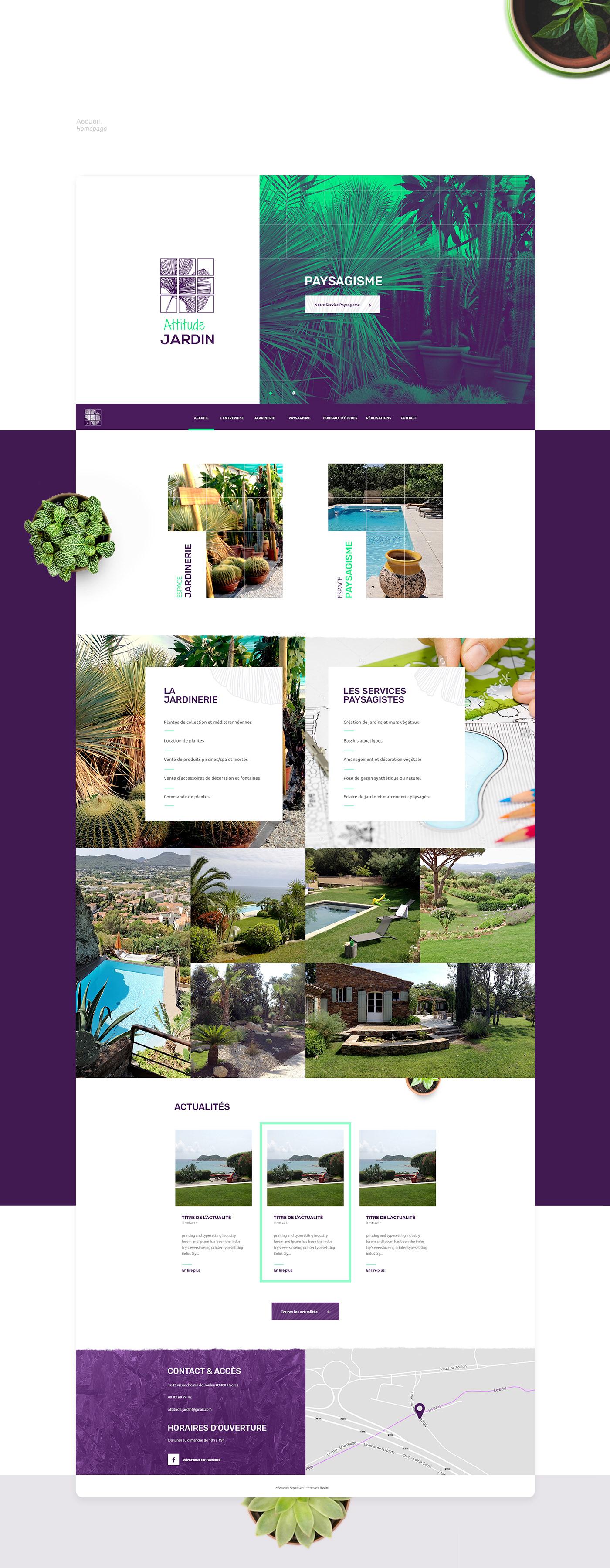 garden Web design graphic Plant Responsive mobile