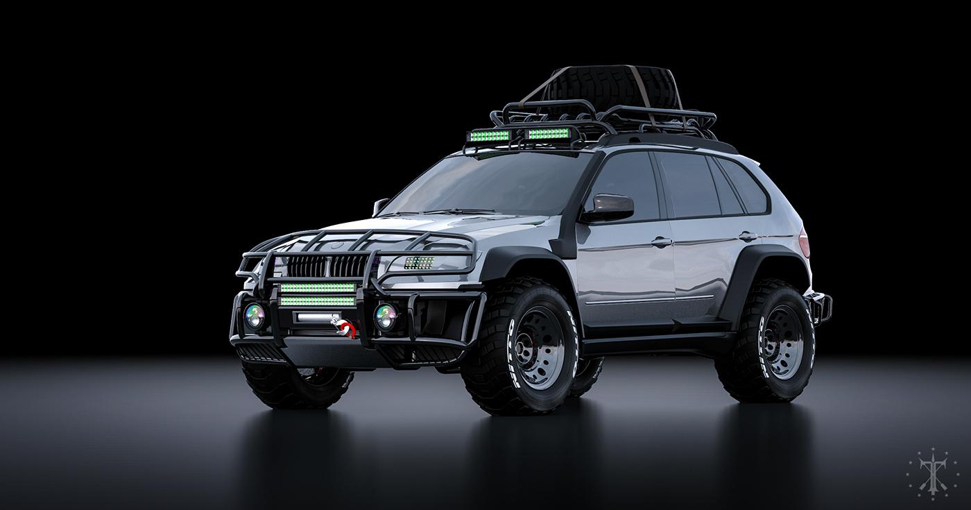 tlibekua bmw x5 tuning Offroad automotive   design visualization antistance