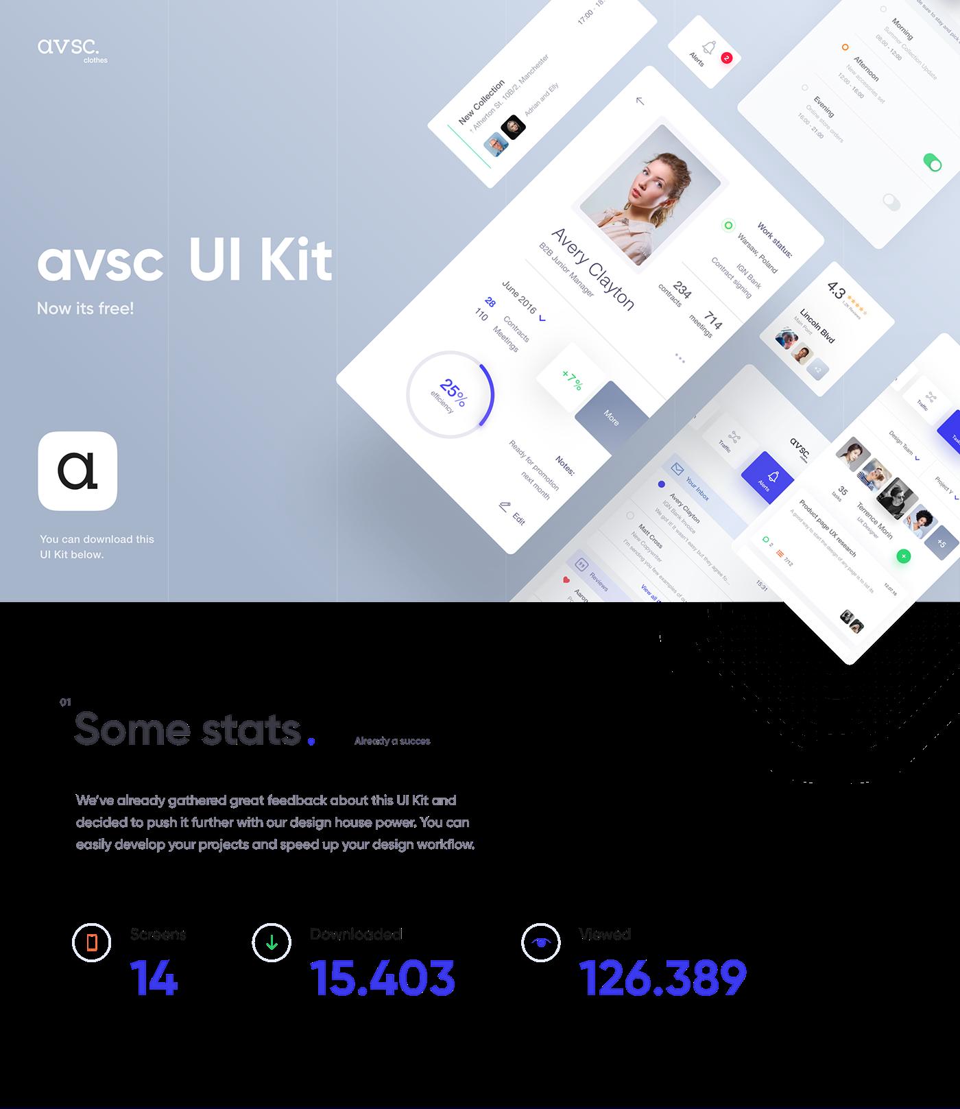 avsc free ui kit on behance