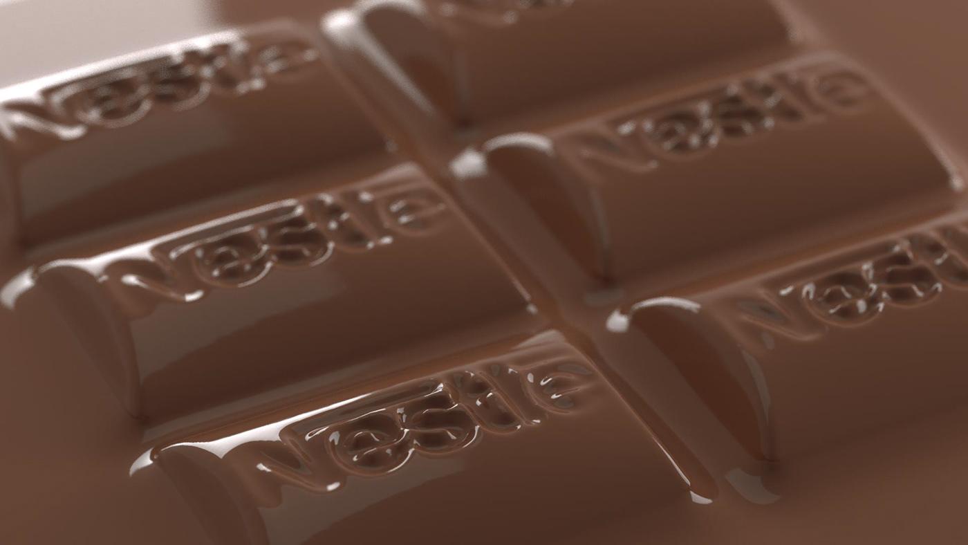 3DArtist advertisement chocolate cinema4d motiondesign nestle octanerender   Packshot realflow tvc