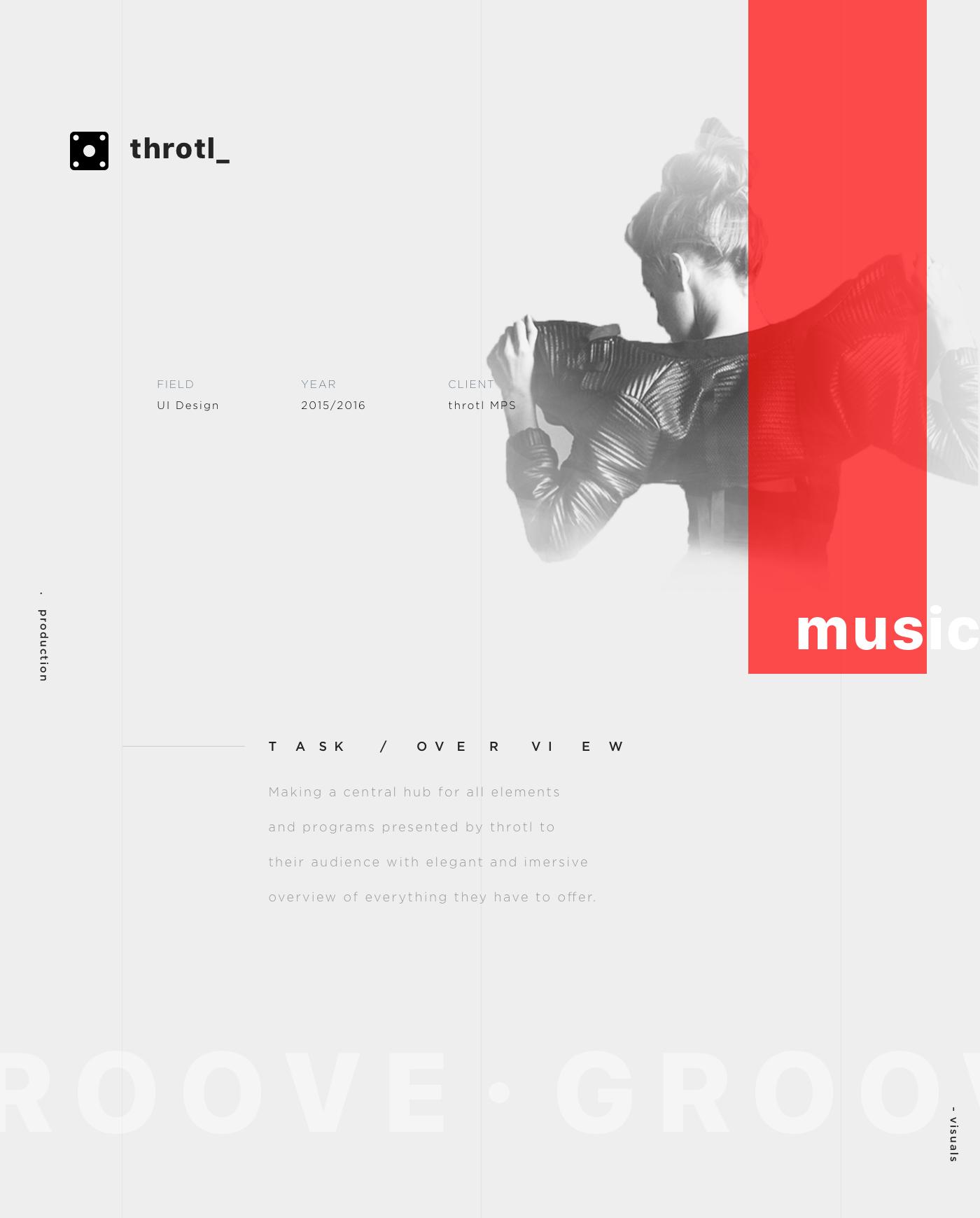 festival producer dj music event Website UI minimal modern Event Records live groove visual design ux homepage