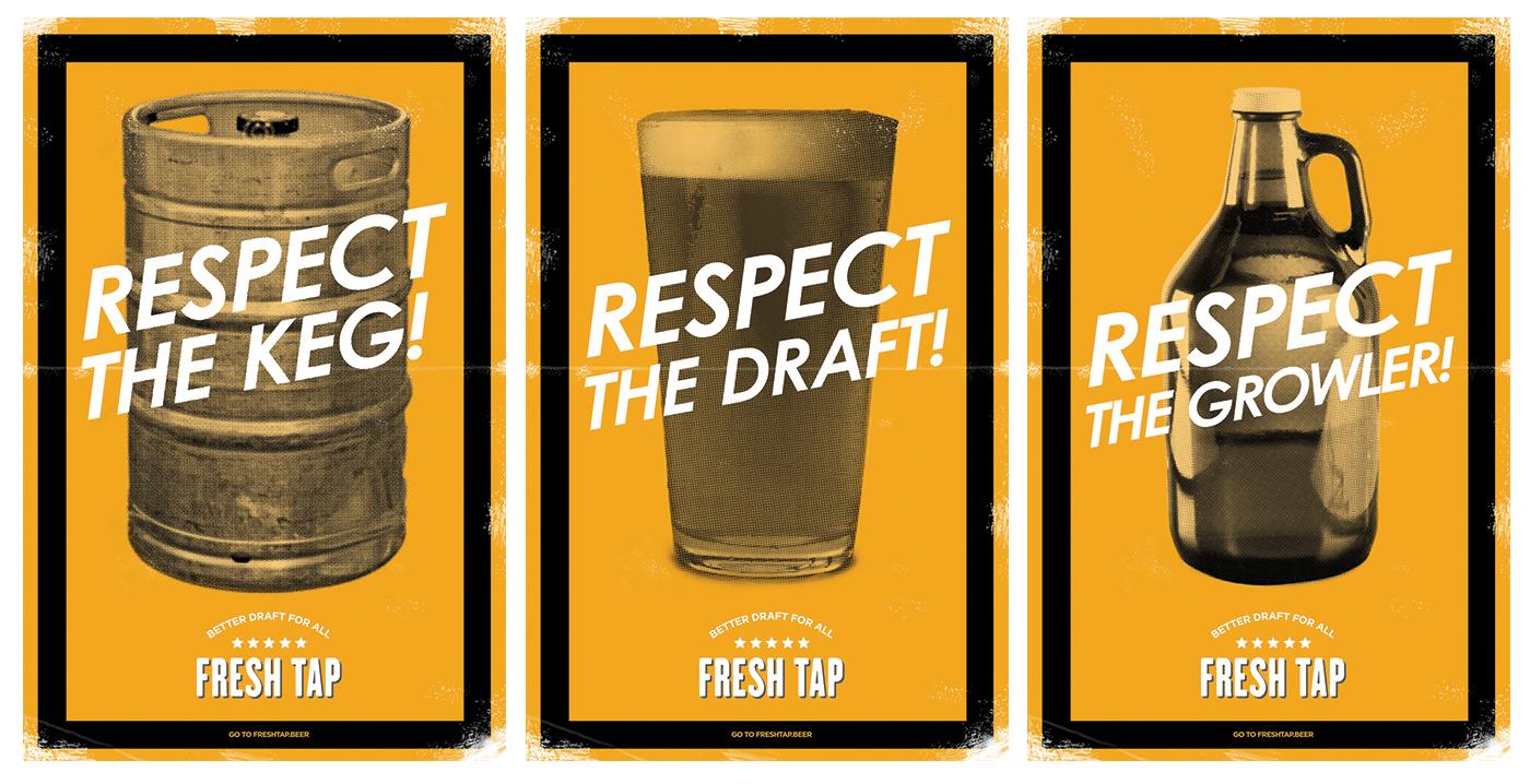 beer poster posters Draft beer advertising craft beer