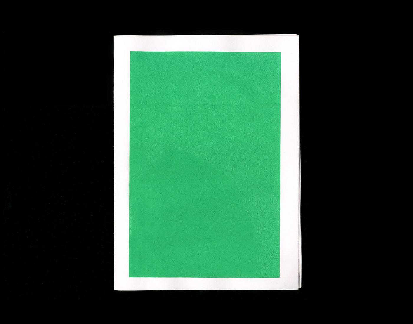 art color blocking edition graphic design  ILLUSTRATION  Zine  Screenprinting book colorblocking pamphlet