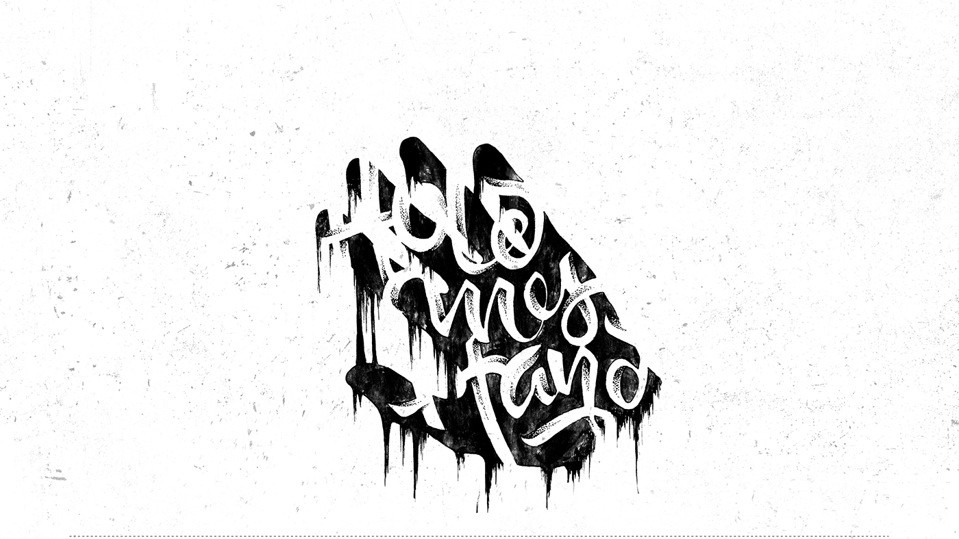 lettering Calligraphy   ILLUSTRATION  oni wine SLAM old school graphic ink