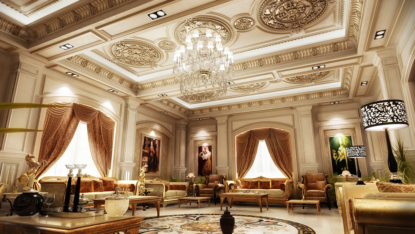 Classic interior design in ksa on behance for Luxury classic interior design