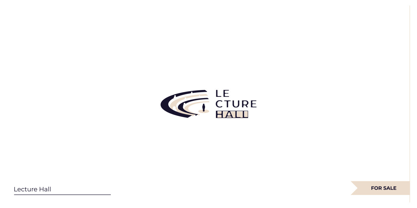 Negative space Lecture Hall logo.
