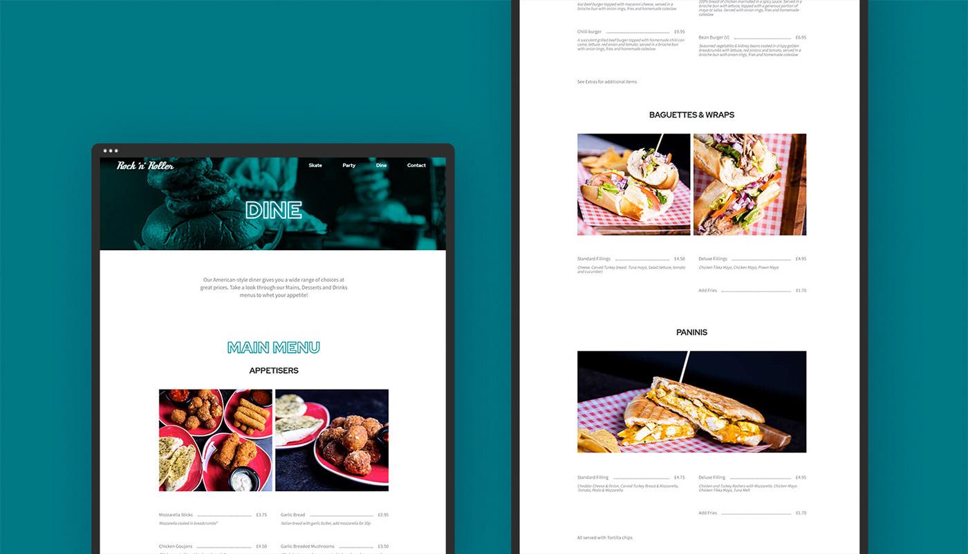 roller blading roller skating Web Design