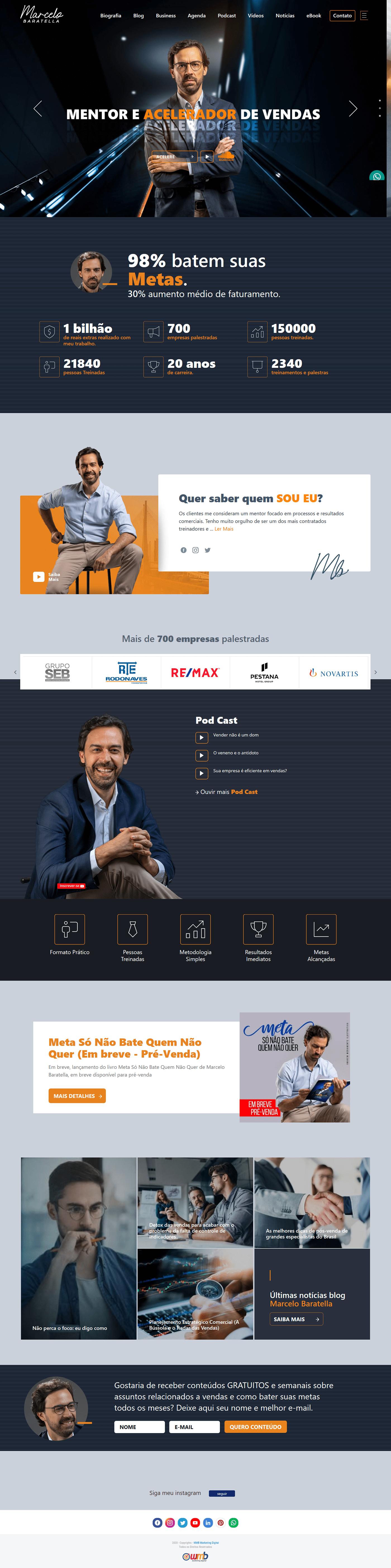 Coach Mentor palestrante site vendas