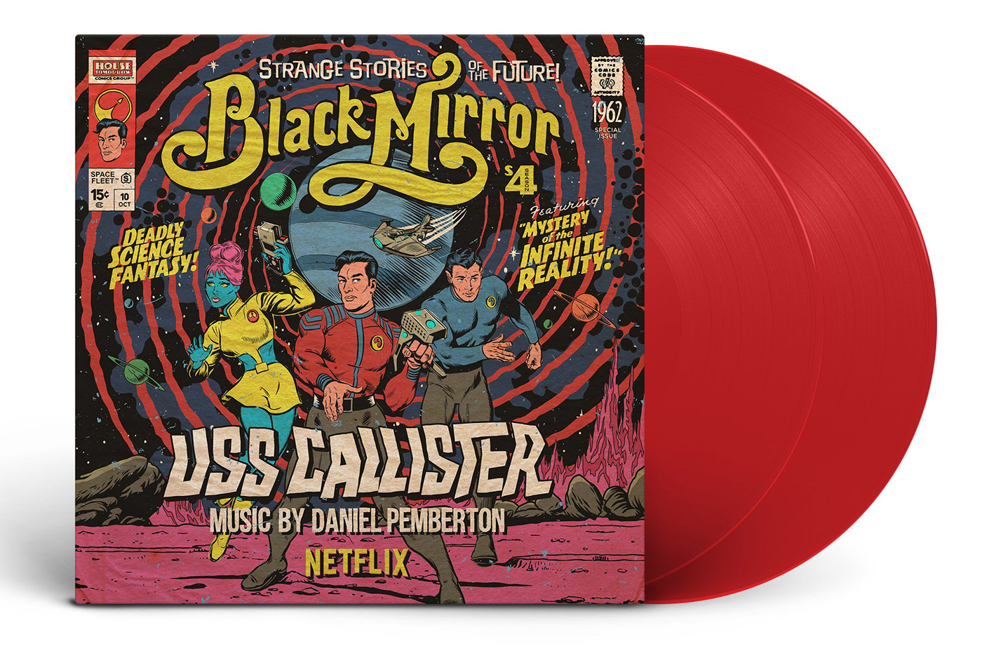 black mirror Netflix Charlie Brooker uss callister Streaming vinyl sleeve space fleet Original series