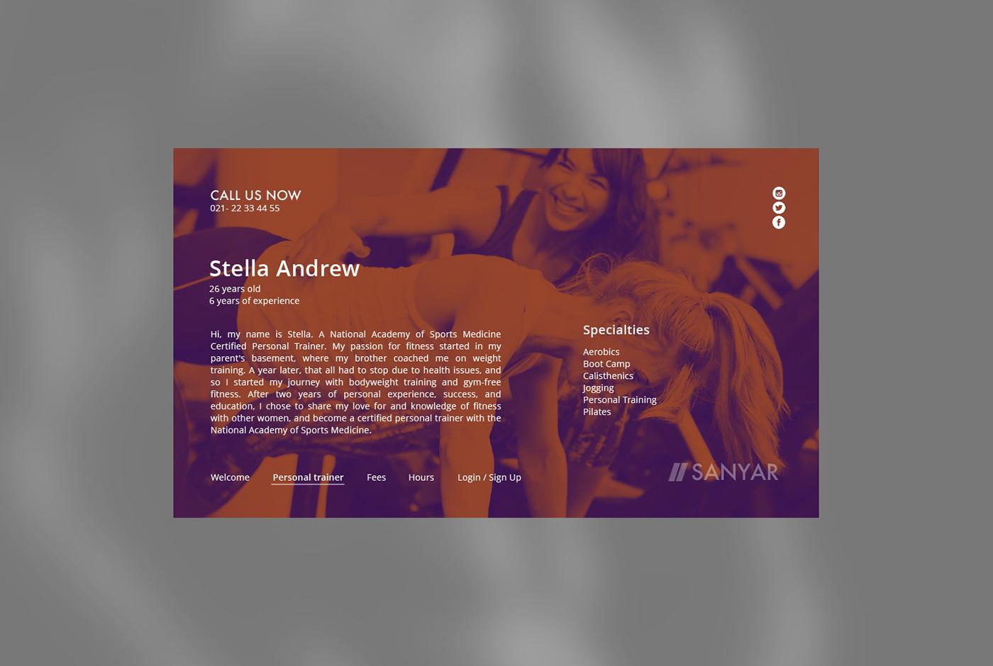 gym sport athletic girl boy body sexy UI ux design