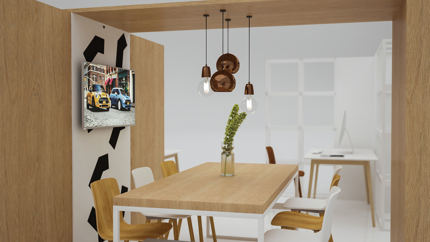 Stand Exhibition  car MINI Cooper panels Urban Cabin