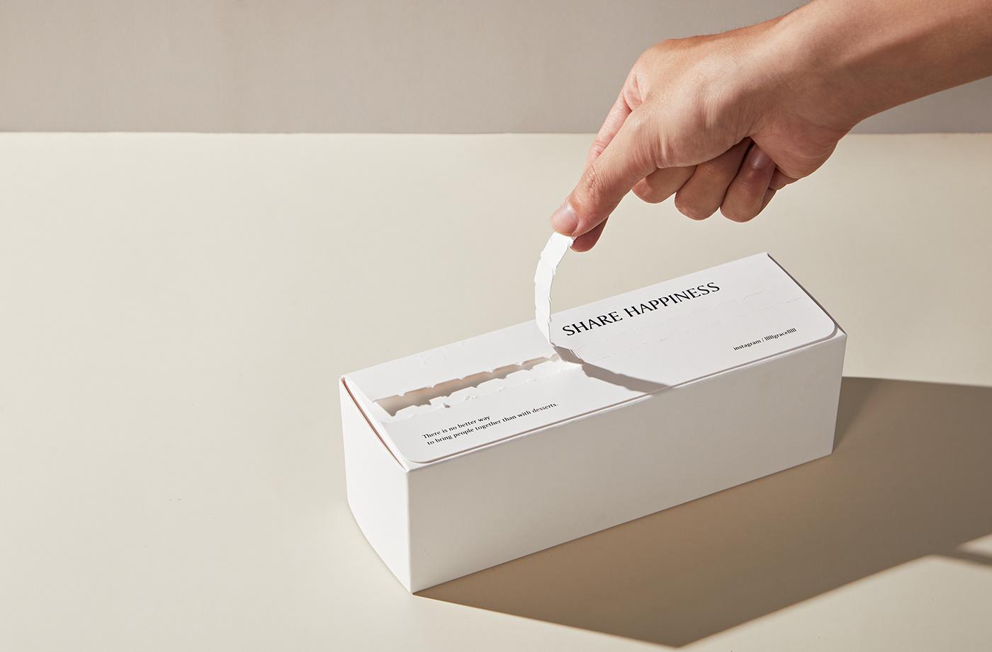 cake dessert Packaging print White 包裝 甜點 蛋糕