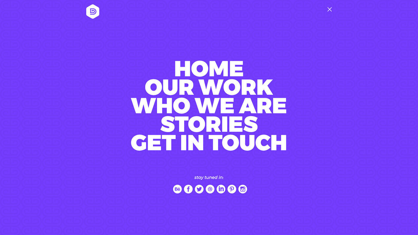 black purple turquoise portfolio art direction