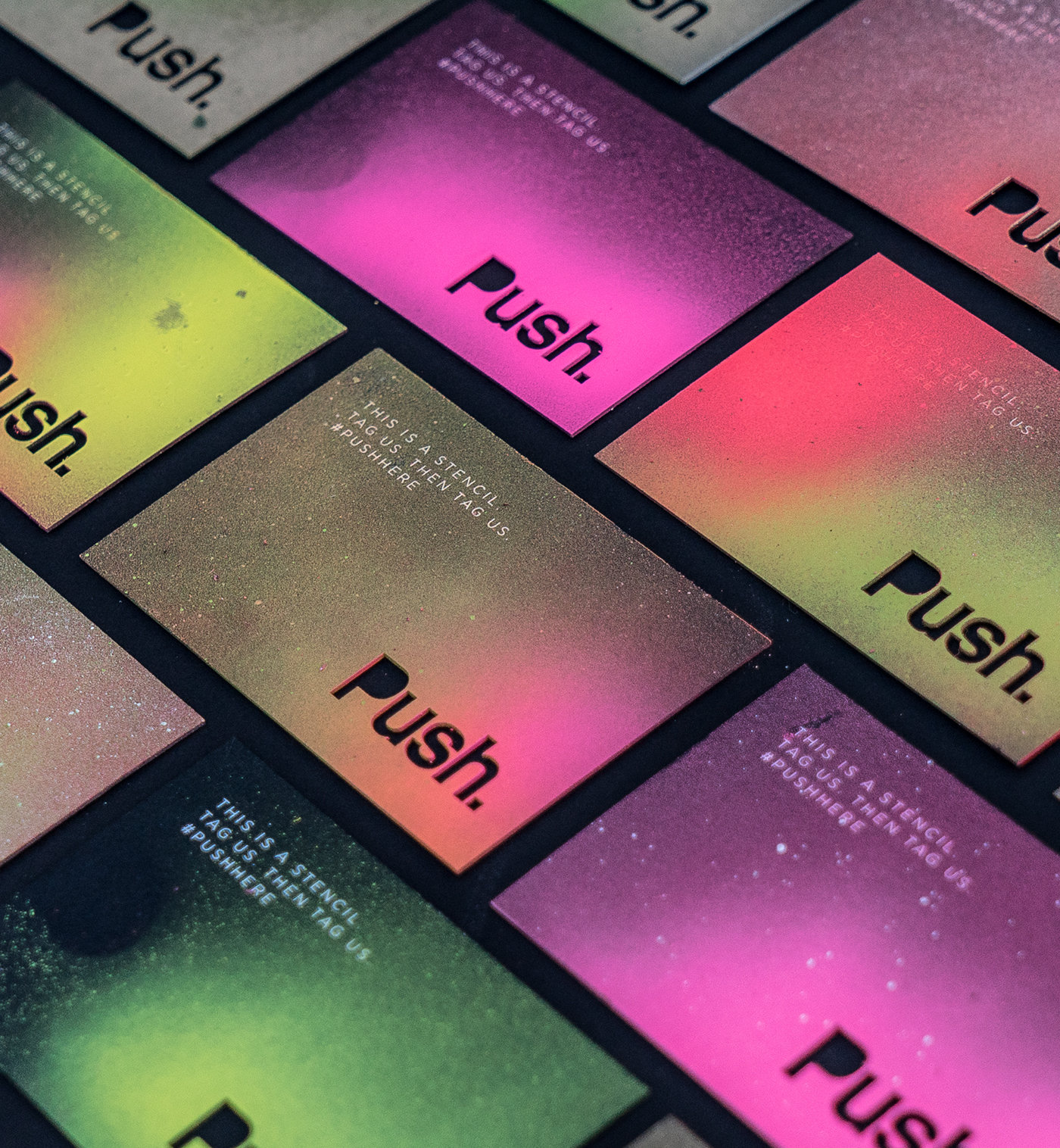 push business cards on behance
