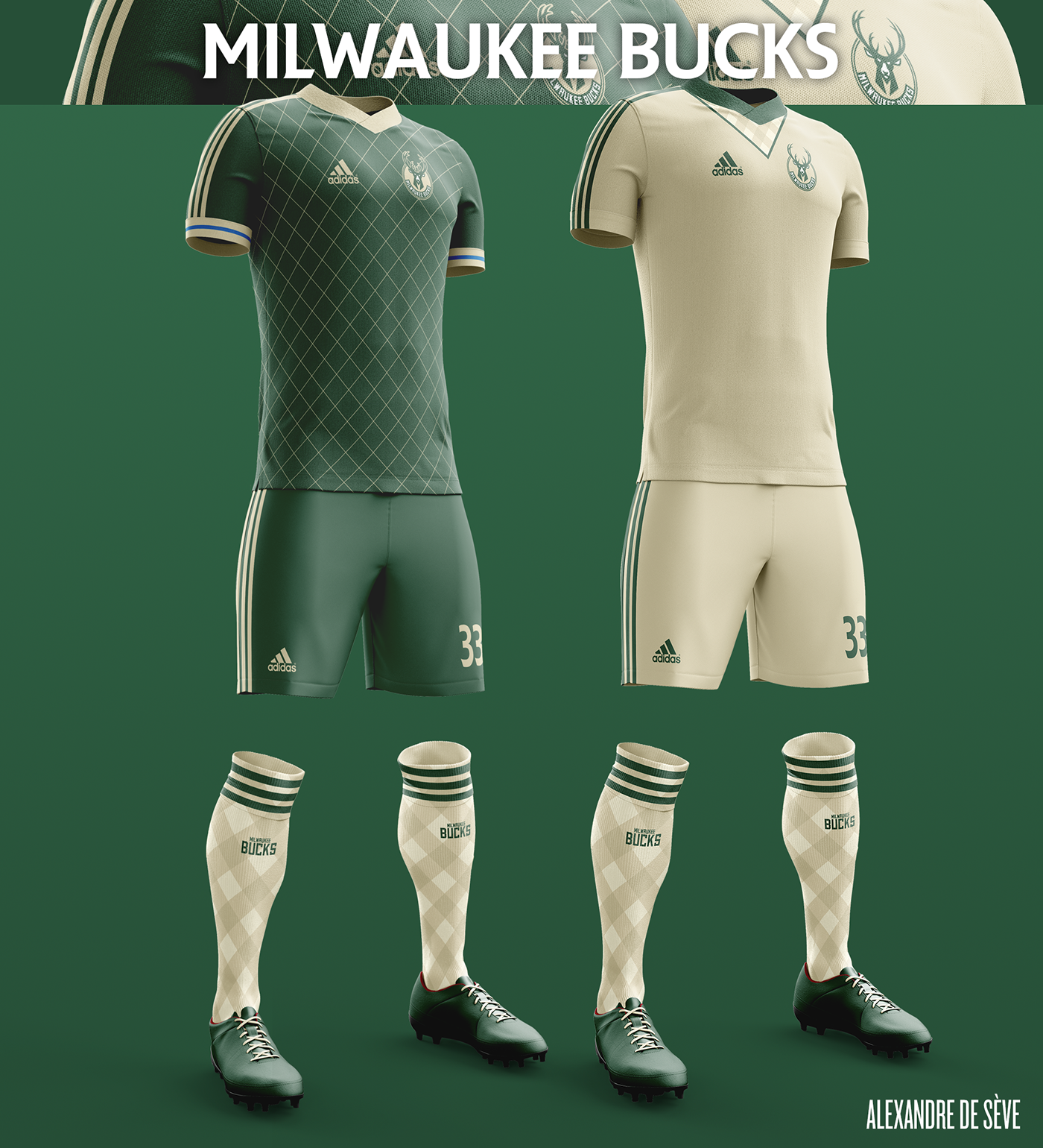 Talisman & Co. | Milwaukee Bucks Soccer Concept Kit