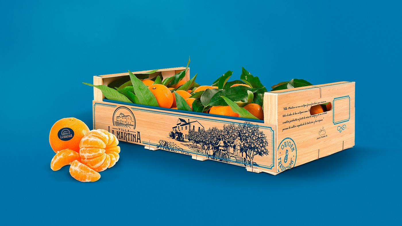 caja box fruta Fruit naranjas orange citrus valencia orchard harvest