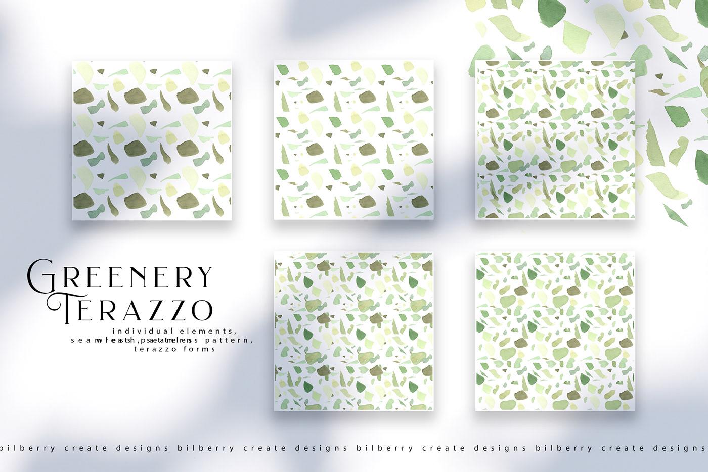 green greenery terazzo texture watercolor watercolour texture