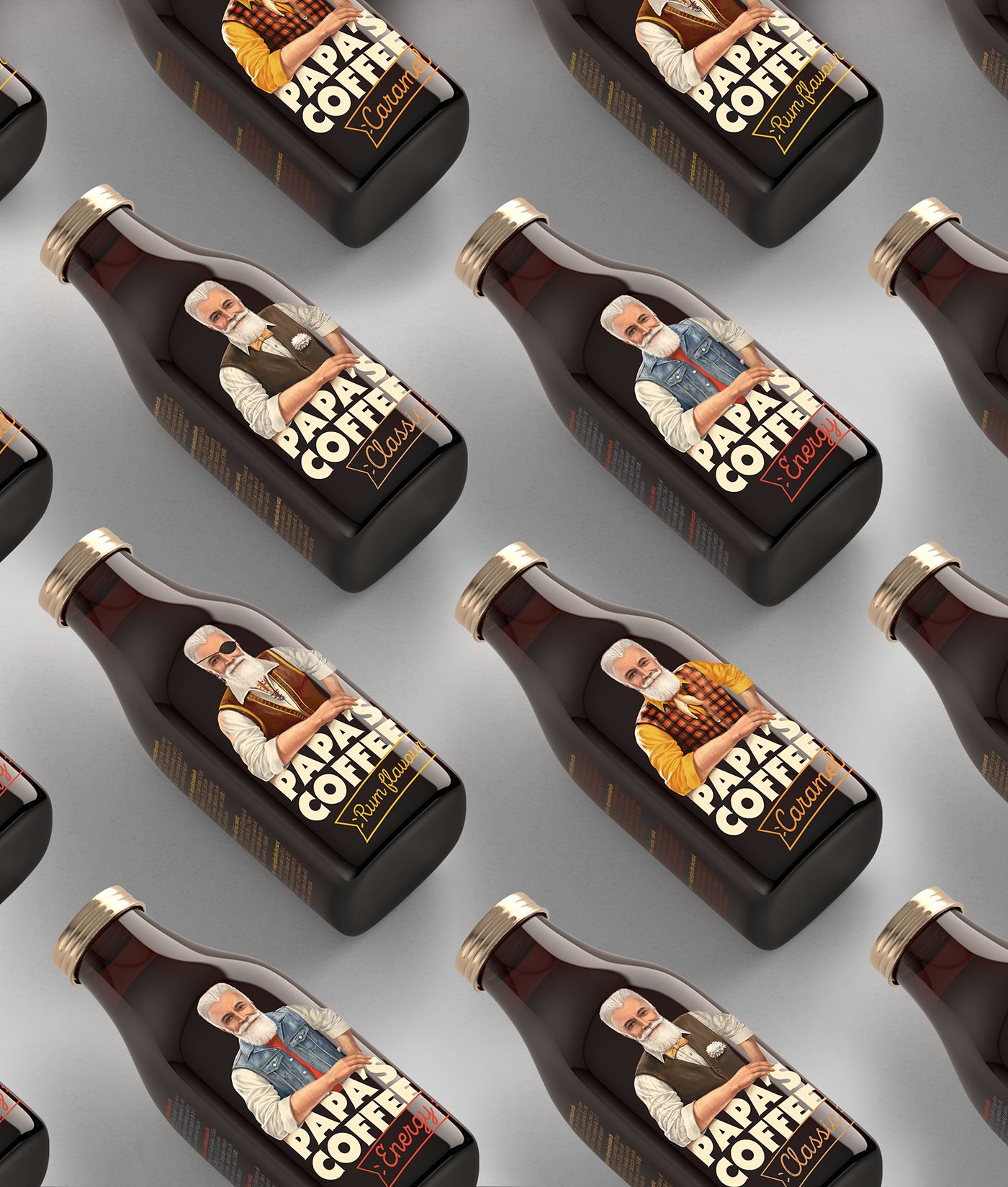 graphic design  ILLUSTRATION  Packaging design Coffee Label Hipster amoth amothdesign amothstudio