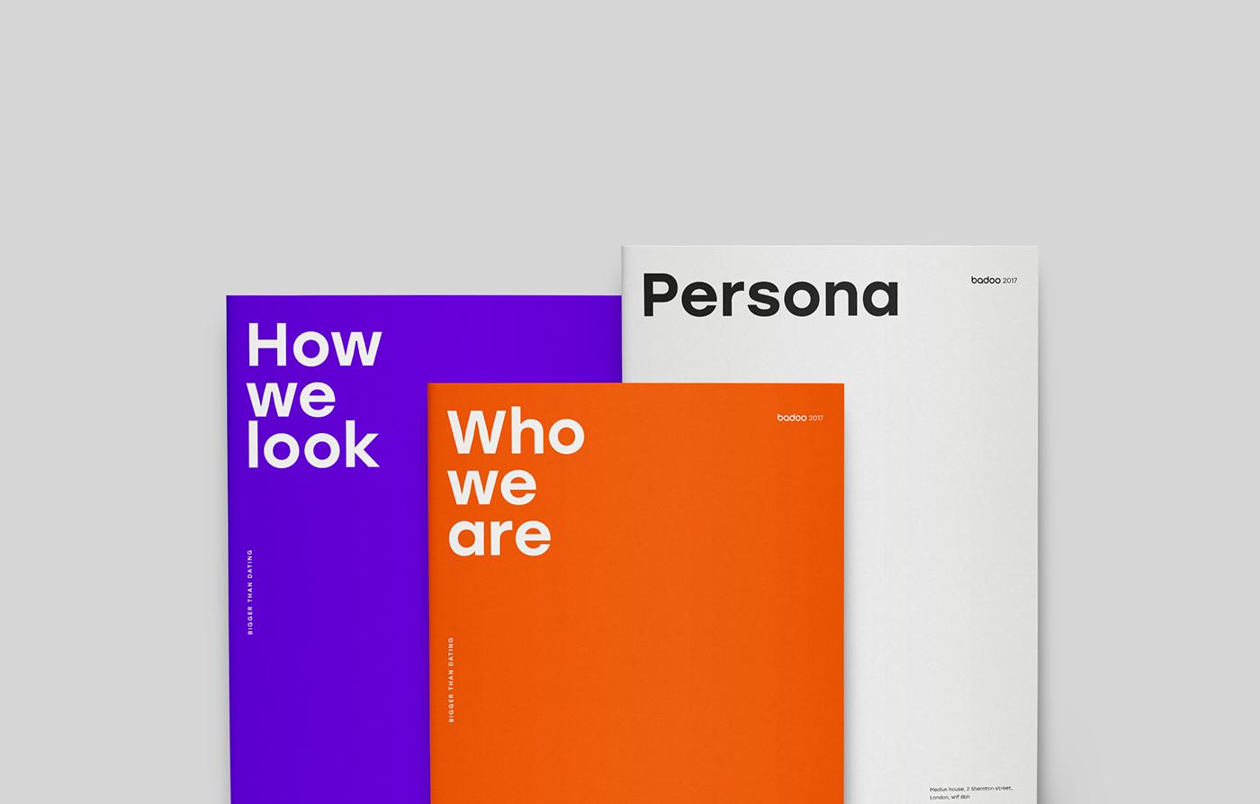 identity brandbook Dating logo purple guidelines
