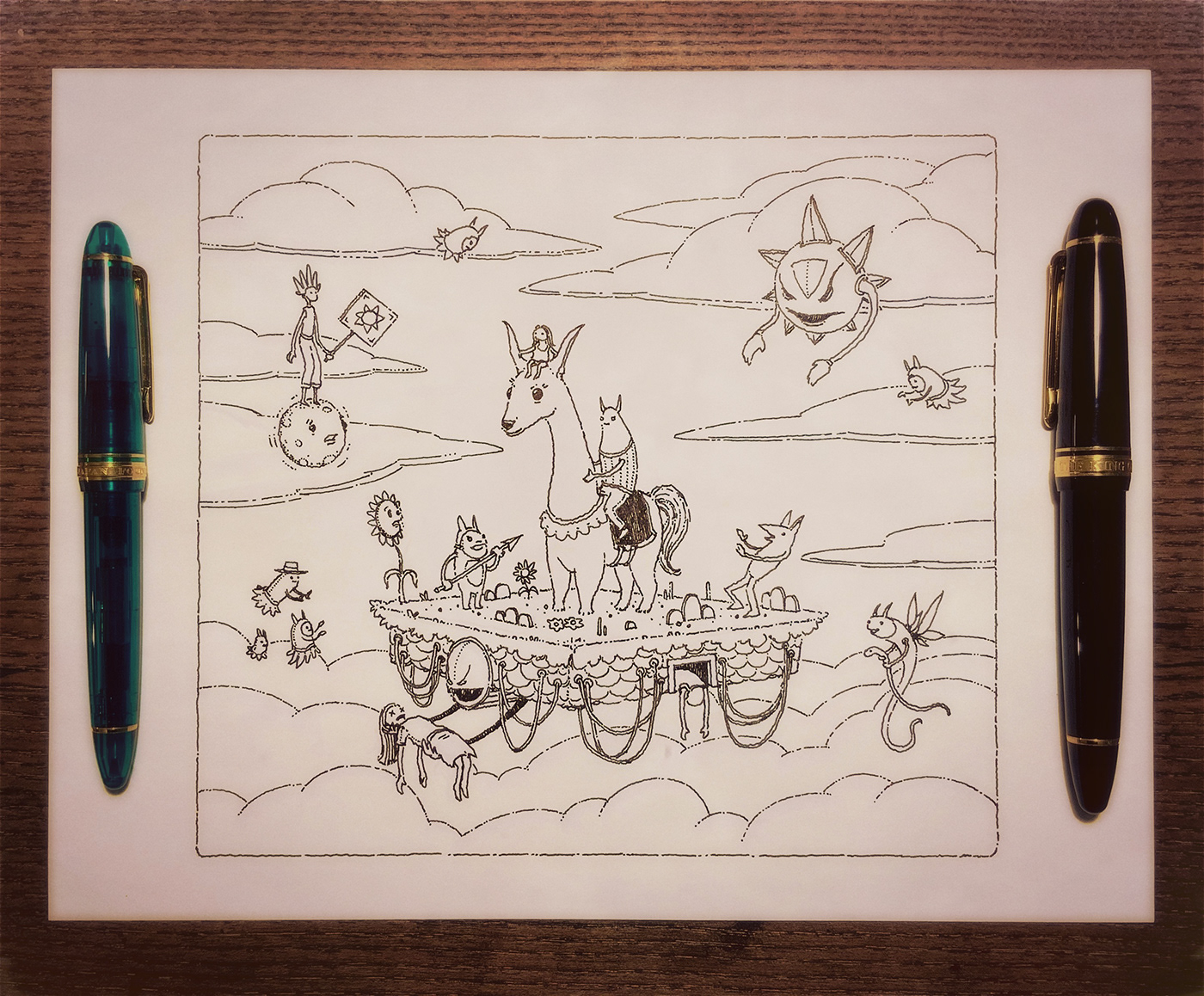 art boat Drawing  ILLUSTRATION  rainbow