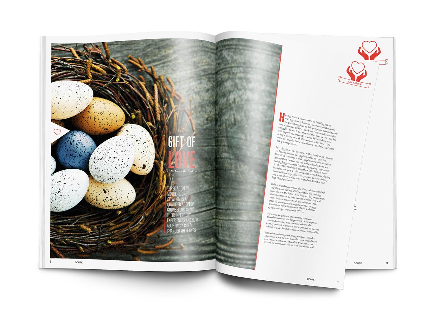 Layout magazine postcard advertisement