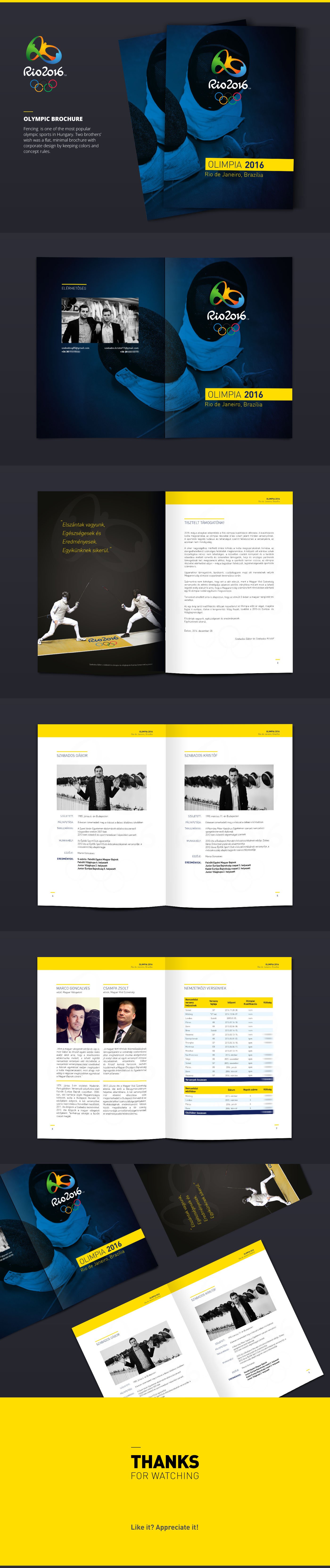 brochure catalog fencing book Booklet poster Layout corporate minimal Olympia