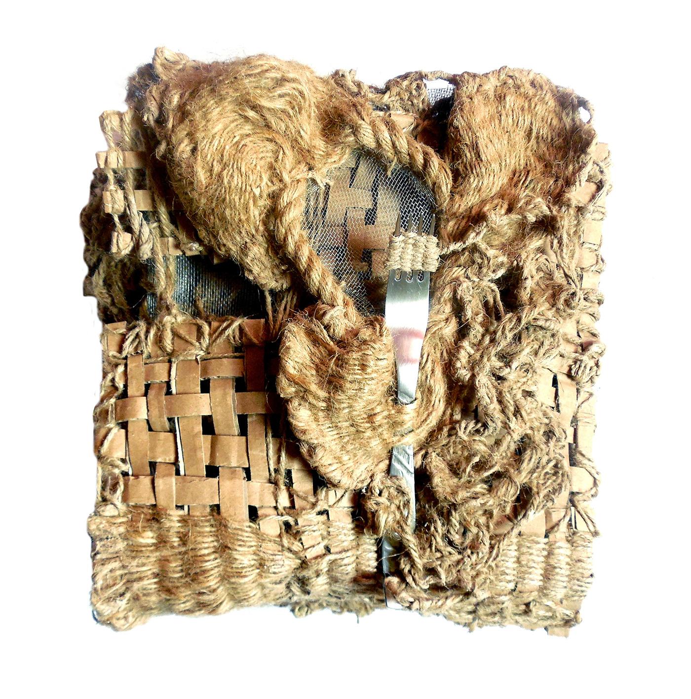 infinity book art book book object textile art fiber art Art Installation rope art Dada to be continued
